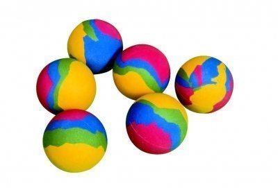 Rainbow Outdoor Fun Play Area Game Soft Sponge Rubber Playball - by OSG