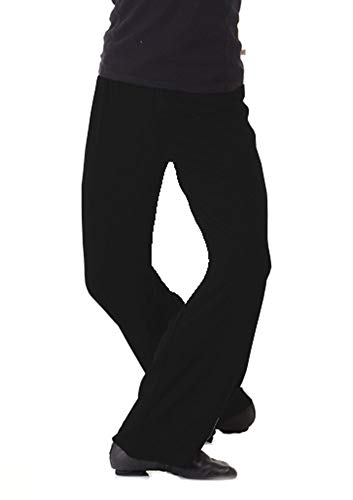 Mens Jazz Pants For Dance Medium Black by B Dancewear Adult Sizes
