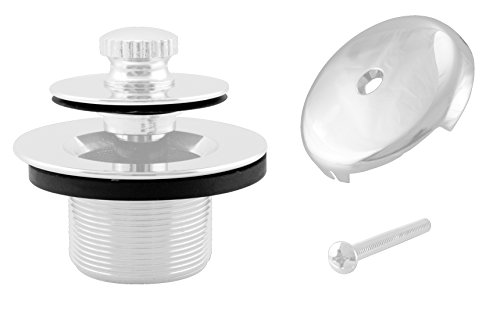 Westbrass Twist & Close Tub Trim Set with One-Hole Overflow Faceplate, Powder Coat White, D94-50