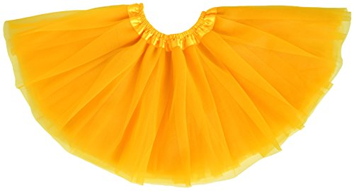 Dancina Tutu Tweens 5k 10k Fun Dash Run Classic Vintage 3 Layer Puffy Tulle Skirt 8-13 Years Yellow -