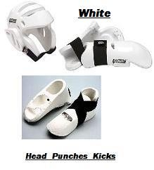 Lightning WHITE Karate Sparring Gear Package Deal - size Adult Small by ProForce Lightning (Image #1)