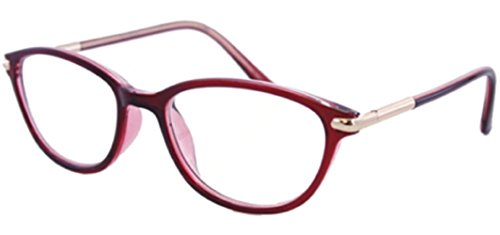 The Marilyn Vintage 1950s Pointed Cat Eye Reading Glasses For Women, Retro Fashion Designer Cat Eye Readers in Red +2.50 (Microfiber Carrying Case - 50s Hipster