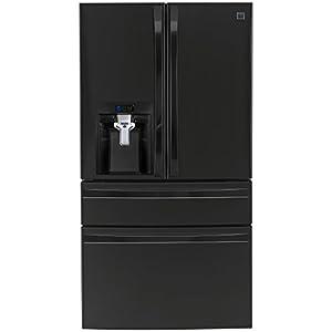 Kenmore Elite 72489 29.9 cu. ft. 4 Door Bottom Freezer Refrigerator with Dispenser in Black, includes delivery and hookup