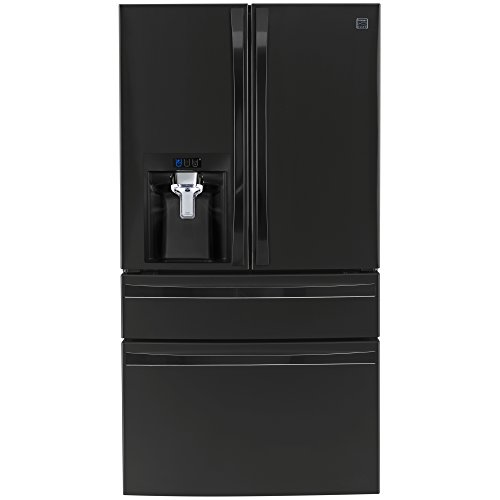 Kenmore Elite 72489 29.9 cu. ft. 4 Door Bottom Freezer Refrigerator with Dispenser in Black, includes delivery and hookup (Available in select cities - French Freezer Bottom Black Door