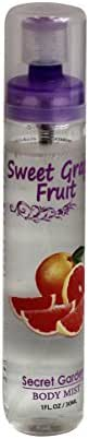 Secret Garden Body Mist - Sweet Grape Fruit 1 ounce