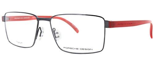 Men Eyeglasses Porsche Design Titanium P8271 Full Rim Rectangular (Dark Gun D, - Eyeglasses Porsche Frames