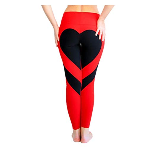 Leggings Pantaloni Vita Up Patchwork Push Donne Fliegend Donna Cuore Di Rosso Da Sportivi Nero Yoga Jogging Leggins Alta Gym Elastici Collant Fitness wqII0xt6