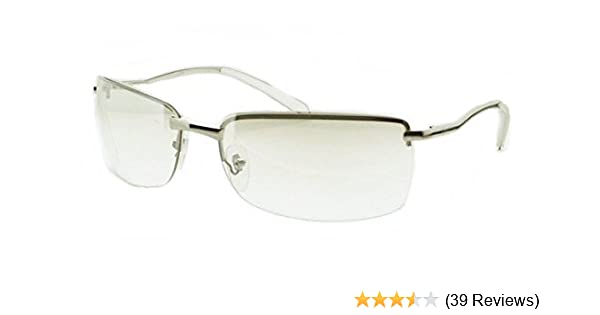 8229b46ccd9d Amazon.com : CLEAR LENS METAL HALF FRAME FASHION SUNGLASSES MENS WOMEN'S  SHADES UV400 PROTECTION : Everything Else