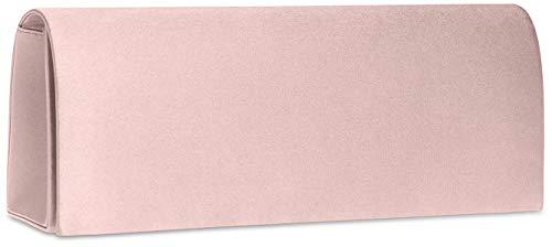 pochette Main Soirée À Rose Pour De En clutch Femme Caspar Sac Satin Ta278 C4tngXqP