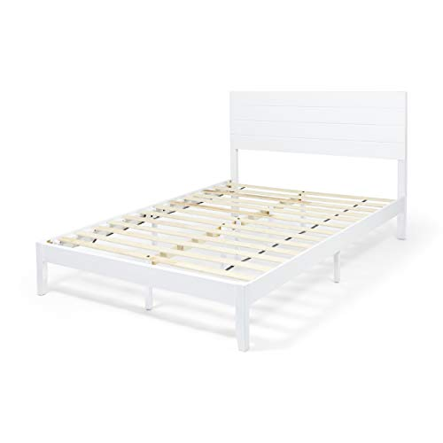 - Great Deal Furniture 309266 Apollo Queen Size Bed with Headboard, Natural and White Finish,