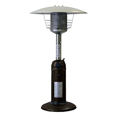 AZ Patio Heaters HLDS032-CG Portable Table Top Patio Heater, Bronze Gold Hammered Finish
