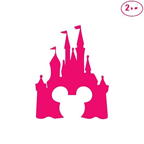 Pink Clipart - ANGDEST Cinderella Castle Clipart (Pink) Waterproof Vinyl Decal Stickers for Laptop Phone Helmet Car Window Bumper Mug Tuber Cup Door Wall Decoration