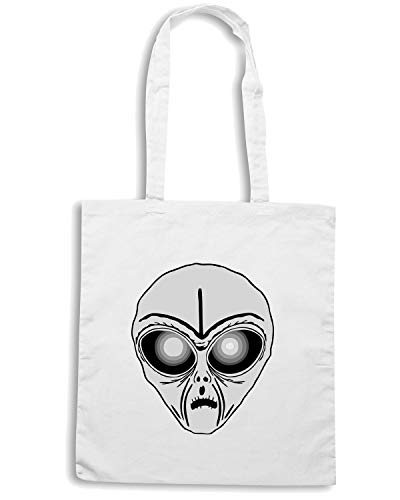 HEAD FUN0547 ALIEN Shopper Bianca Borsa EZBaIqnSwx