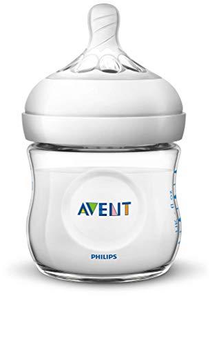 Philips Avent Natural Babyfles – 0m+ – Speen voor eerste toevoer – Spiraalvormig design – Antikrampjes ventiel…
