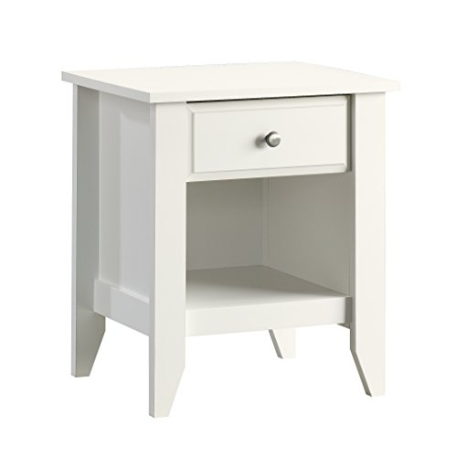 "Sauder 411200 Shoal Creek Night Stand, 19.438"" x 17.48"" x 17.48"", Soft White"
