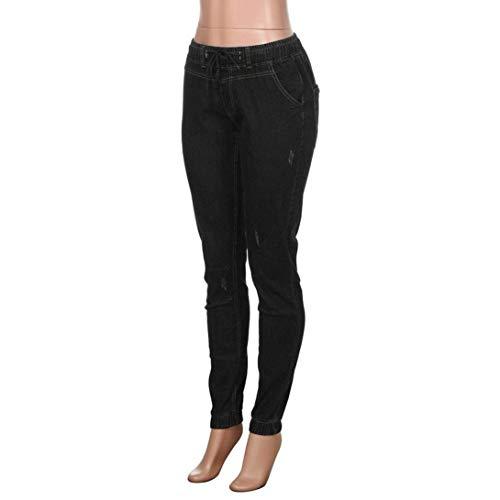 Streetwear In Nero Jeans Slim Skinny Dritti Moda Denim Elastico Uomo Pantaloni Aderenti Lunghi Fit U7q4ZZ