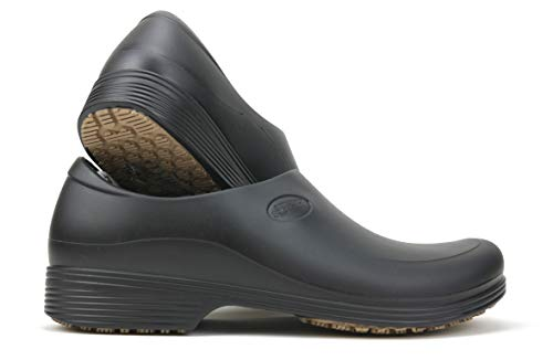 Work Shoes for Men - Waterproof Slip Resistant - StickyPRO Shoes (9.5, Black)