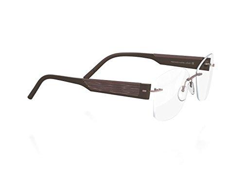 Silhouette 4448 Womens/Ladies Designer Rimless Titanium Eyeglasses/Eyewear (55-17-140