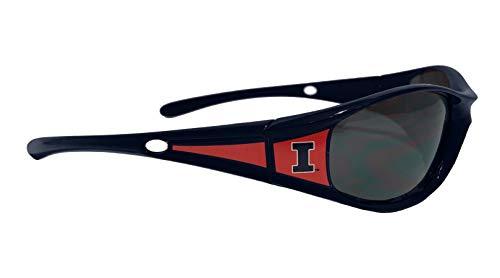NCAA Colored Frames Sports Elite Sunglasses - UVA UVB Protection (Illinois Fighting - Sunglasses College