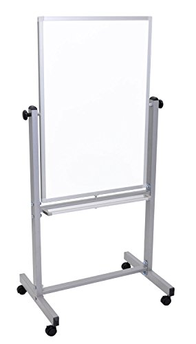 Luxor Office Presentation Reversible Magnetic Whiteboard, Aluminum (Luxor Series)