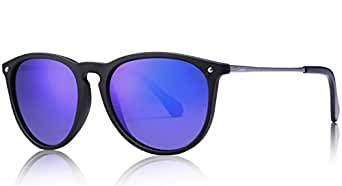 Carfia Vintage Polarized Sunglasses for Women Men, 100% UV400 Protection
