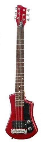 Hofner HCTSHRO Shorty Electric Guitar - Red Finish (Traveler Bass)