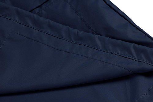 Pluie Hoodie Cape Top Femme Raincoat De Foncé Manteau Compressible Bleu Biker Zipper Cooshional Moto Veste Blouson Imperméable wR8XpWYx