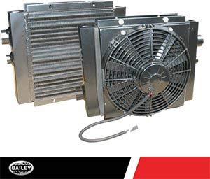 MAXIM Mobile Oil Cooler With DC Fan: 55 GPM, 300 PSI, 12 V, 1