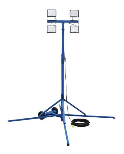 240 Watt LED Work Area Quadpod Light Fixture - 500 Watt Quartz Halogen Replacement - Waterproof (-L5