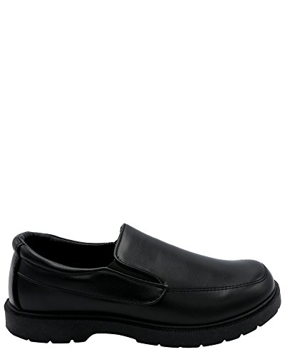 Eddie Marc Kids Boy's Slip On School Shoe (Little Kid/Big Kid),Black,1 by Eddie Marc Kids