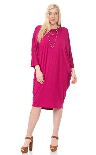 plus size hot pink dress - 3