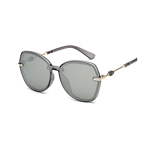 de sol de de Gafas mujeres la las unisex Protección polarizadas Gafas gafas de personalidad y para de ULTRAVIOLETA conducción hombres las retro Retro las la Plata sol de marco sol del de de de sol los gafas Pp4YXB