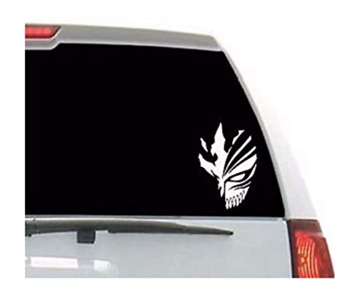 Bleach Anime Ichigo mask skull vinyl decal sticker for Car Window/Bumper, Laptop, door, wall by A-B Traders. ()