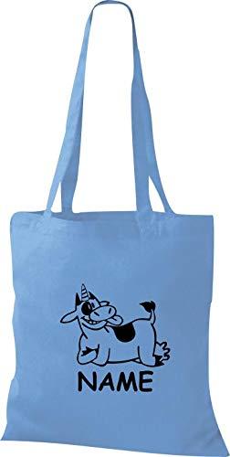 borsa il desiderato del della Einhorn nome mucca Animali della Einhornkuh cielo con divertenti di Shirtstown tessuto xw4npq