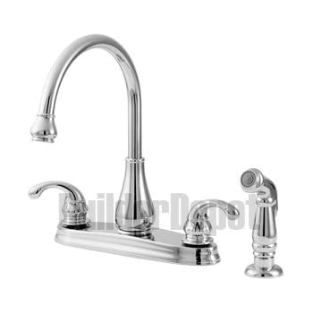 Pfister Gt36 4dss Treviso 2 Handle Kitchen Faucet With