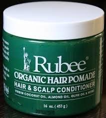 Rubee Organic Hair Pomade, Hair & Scalp Conditioner (3 per pack) 16oz