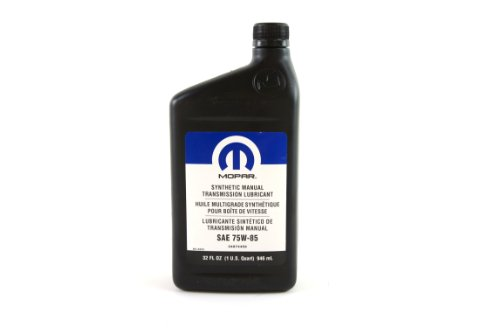 Mopar Manual - Genuine Chrysler Fluid 4874459 Synthetic Manual Trans Lubricant SAE 75w-85, 32 oz Bottle