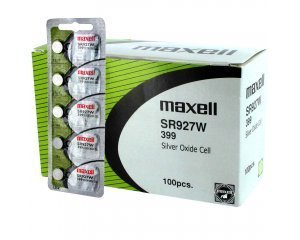 100 pcs Maxell SR927W SR57 399 SG7 Silver Oxide Watch Battery by Maxell