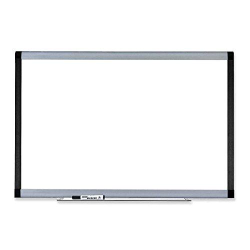 Lorell Magnetic Dry-Erase Board, 6 by 4-Feet, Silver/Ebony