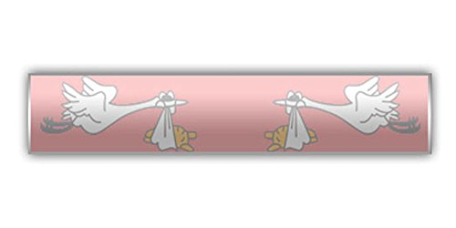 - The Pin People Pink Stork Delivery Bar