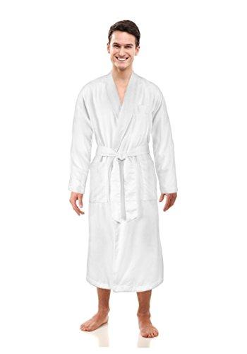 - Luxurious Men Spa Bathrobe, Plush, Absorbent, 2-Ply Design, Full Length, Favorite Robe Celebrities