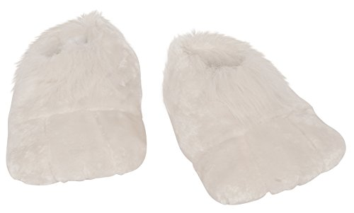 Bunny Costumes Adult (Rubie's Costume Co Plush Adult Bunny Shoes, White, One Size)