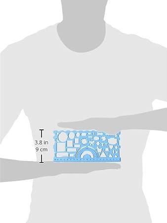 Amazon.com : eDealMax Estudiante Forma de rectángulo gobernantes papelería plantilla de dibujo, 2 Piezas (a15091100ux0004) : Office Products
