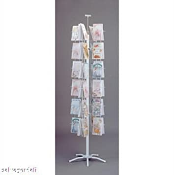 Amazon 48 pocket spinning greeting card floor rack spinner amazon 48 pocket spinning greeting card floor rack spinner white 5 38 w new office products m4hsunfo