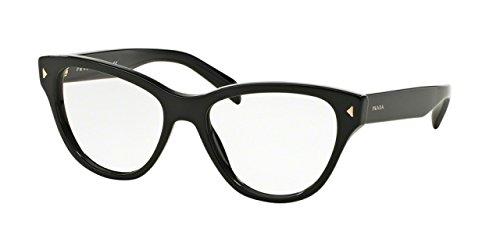 Prada PR23SV Eyeglass Frames 1AB1O1-54 - Black