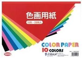 トーヨー 色画用紙 106103 28枚入 ×10セット