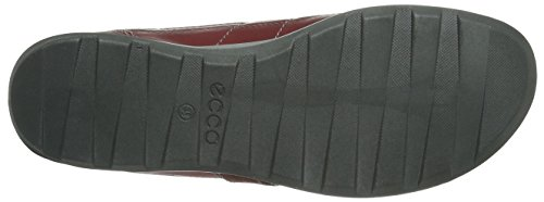 ECCO Cayla - Zapatos de cordones de cuero para mujer Rojo (PORT/PORT57111)