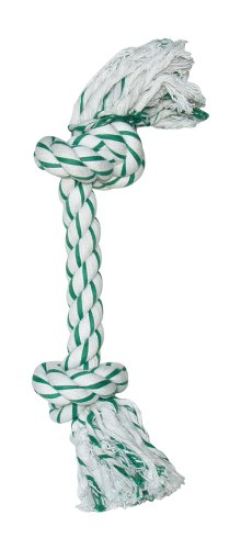 Dogit Knotted Rope Bone Toy, Mint, ()