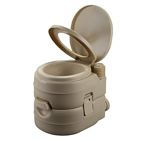 Portable Toilet for Camping Traveling Outdoor Recreational Activities Porta Potty for RV Camper Van Trailer Motorhome Truck 5.2 Gallon 20L ()