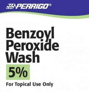 BENZOYL PEROXIDE LQ 5% 142GM WASH by PERRIGO PHARM CLAY PARK OTC